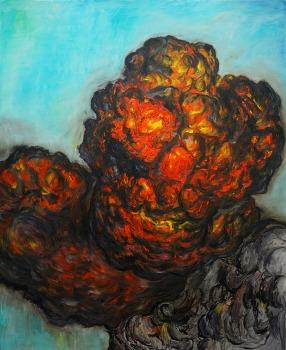 Siamese clouds 165 x 135cm oil on canvas 2013