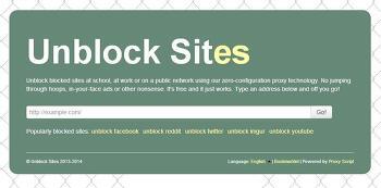 프로그램 없이 막힌 사이트 우회(프록시,IP우회) - http://unblocksit.es