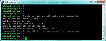 라즈베리파이3(Raspberry Pi) 삼바(Samba)서버 설치하기