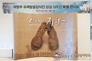 대한민국역사박물관 국방부 유해발굴감식단 공동기획전! 67년만의 귀향