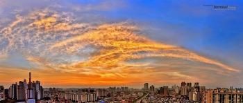 구로동 서쪽하늘 석양 Sky Sunset