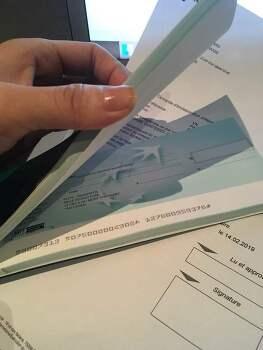 프랑스 은행 수표 신청