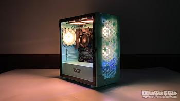 darkFlash DLM21 RGB MESH 강화유리 네오민트 케이스