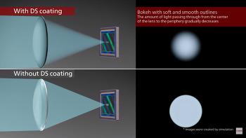 캐논 RF 85mm f/1.2 L USM DS 렌즈의 Defocus Smoothing