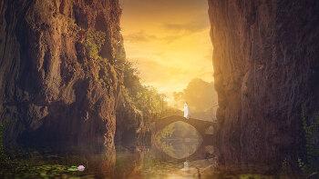 포토샵 강좌 일몰   (Photoshop Tutorial Sunset)
