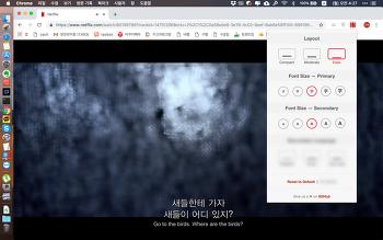 넷플릭스의 자막을 영어/한글 동시에 통합자막으로 보기