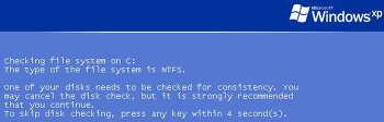 윈도우XP 에러메시지