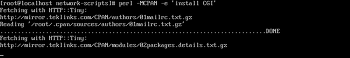 Perl에 HTTP, CGI 모듈 설치하기