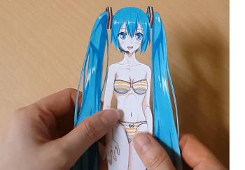 하츠네미쿠 종이인형 만들기