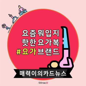 [매력이의 카드뉴스] 한국 요가 브랜드 TOP3 l 인스타그램 마케팅 l 인스타 해시태그 2개 검색