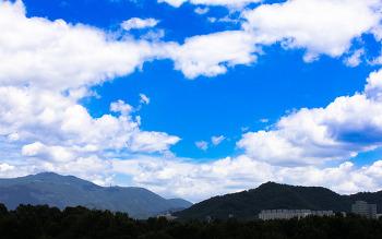 푸른 여름 하늘