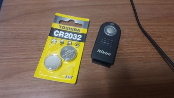 니콘 무선릴리즈 리모콘 ML-L3 건전지 구입, 도시바 CR2032