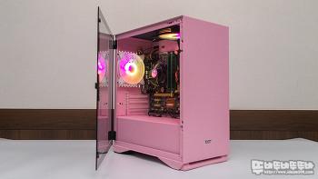 다크플래쉬 DLM22 RGB 강화유리 핑크에디션