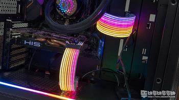 리안리 STRIMER PLUS RGB 24핀/ 8핀 케이블