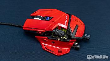 강렬한 레드!! MadCatz R.A.T 8 Plus ADV 게이밍 마우스
