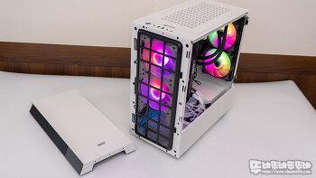 darkFlash DLV22 RGB 화이트 강화유리 케이스