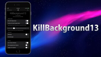 KillBackground13 (13 - 14) : 백그라운드 실행 앱들을 한번에 종료해주는 트윅 [iOS14]
