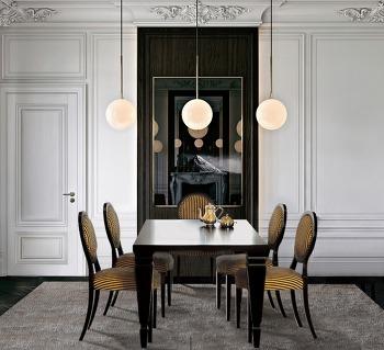 지갈리 이탈리아 홈 컬렉션 챕터3 오벨리스크 시리즈 : 디아니 웬지우드 6인용 식탁세트