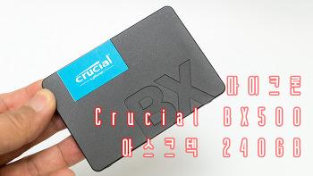 마이크론 Crucial BX500 아스크텍 240GB SSD