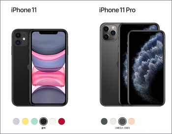 아이폰 11 과 아이폰 11Pro, Max 비교 분석