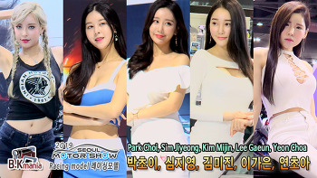 [영상] 2019 서울모터쇼 레이싱모델 박초이, 심지영, 김미진, 이가은, 연초아