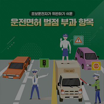 초보운전자가 위반하기 쉬운 운전면허 벌점 부과 항목 알아보기