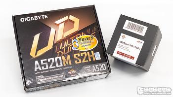 AMD 라이젠 3 PRO 4350G CPU & GIGABYTE A520M S2H 메인보드