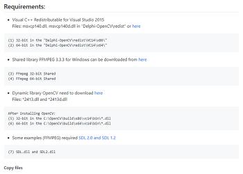[Delphi] Install OpenCV in Delphi 10.2 Tokyo
