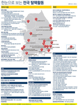 전국 탈핵활동 지도