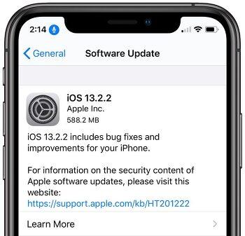 iOS 13.2.2 정식버전 업데이트 방법 및 내용 정리