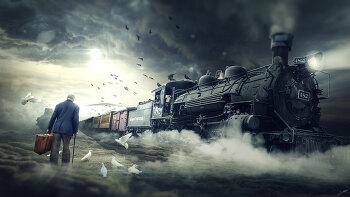 포토샵 합성 강좌 해븐익스프레스   (Photoshop Manipulation Tutorial Heaven Express)