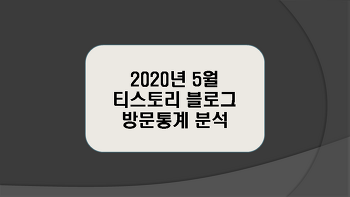 티스토리 블로그 2020년 5월 방문통계 분석