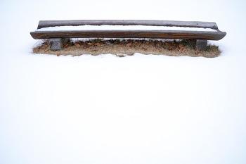 눈이 내렸던 상암동 노을공원