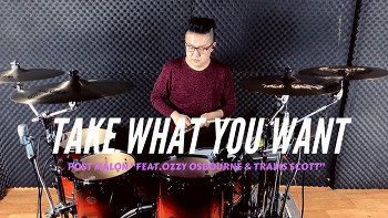 """Post Malon(포스트말론)""""Feat.Ozzy Osbourne(오지오스본)&Travis Scott(트래비스스캇) - Take what you want(테이크 왓 유 원) Drum cover by ROP"""