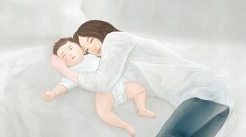 [일러스트작업] 수유 중인 엄마와 아기 II