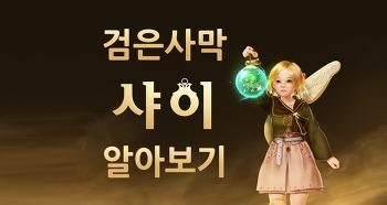 ■검은사막 샤이■ 신규캐릭터 샤이 사전예약 혜택과 정보 알아보기