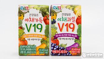 정식품 건강담은 야채가득, 야채과일 V19 쥬스