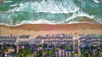 [베트남 호이안] 다낭의 미케비치와는 전혀 다른 느낌의 안방비치 / An Bang Beach, Hoian, Vietnam - DJI Drone Mavic Proi
