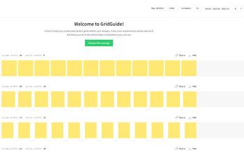 그리드시스템: 그리드(grid)  생성기 사이트