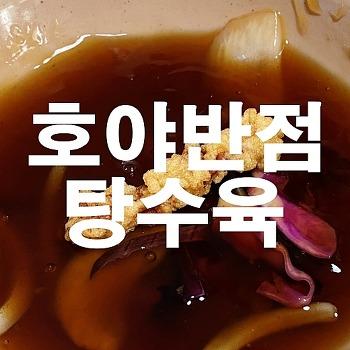 독립문 무악동 중국 맛집 호야반점, 이번에 탕수육~