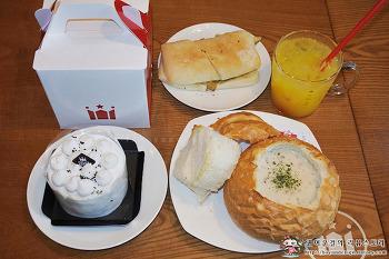 [길동 맛집]할리스커피 감사선물추천 메뉴! 얼그레이 쉬폰 라운드 케이크