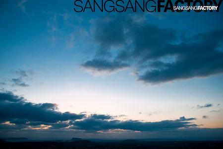 구좌에서의 새벽 하늘