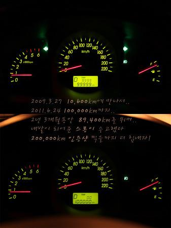 스퐁이 100,000km 달성..