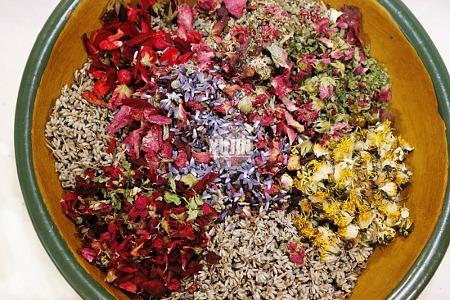 꽃차 재료로 포푸리 만들면 좋은 점