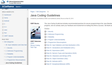 CERT JAVA Secure Coding Standard