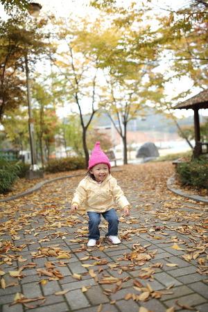 집 앞에서 가을을...