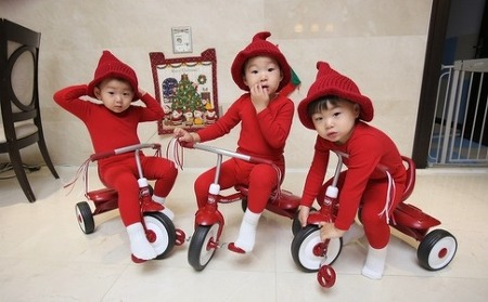 귀여운 세남자 배우 송일국의 세쌍둥이 아들 대한, 민국, 만세