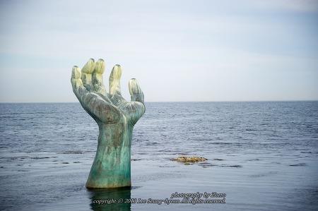 포항 호미곶 해맞이광장 상생의 손