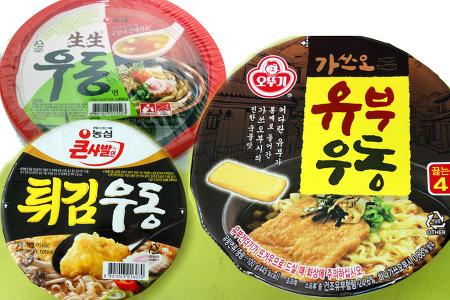 우동라면 3종 후기 가쓰오유부/생생/튀김우동