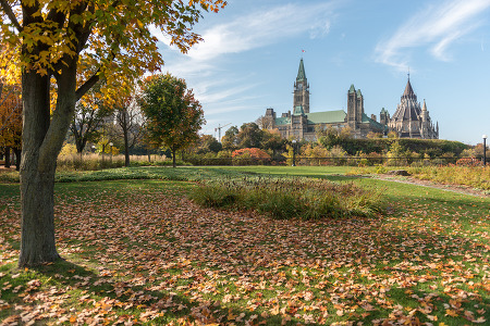 Parliament Hill in Fall